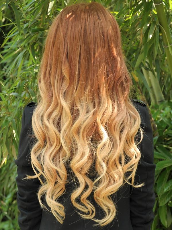 24 Inch Characteristic Two Colors Ombre Clip In Remy Hair Extensions
