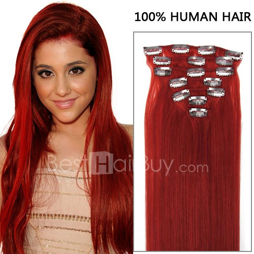 Dark red hair extensions 7pcs straight red clip in 70g review pmusecretfo Choice Image