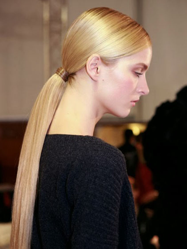 Sleek Low Ponytail Hairstyle