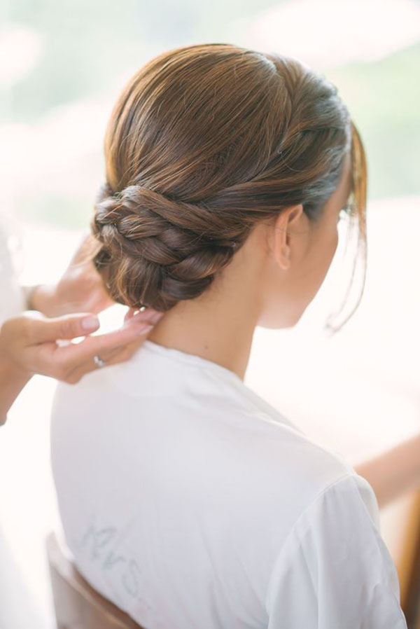 Braided Low Bun Style