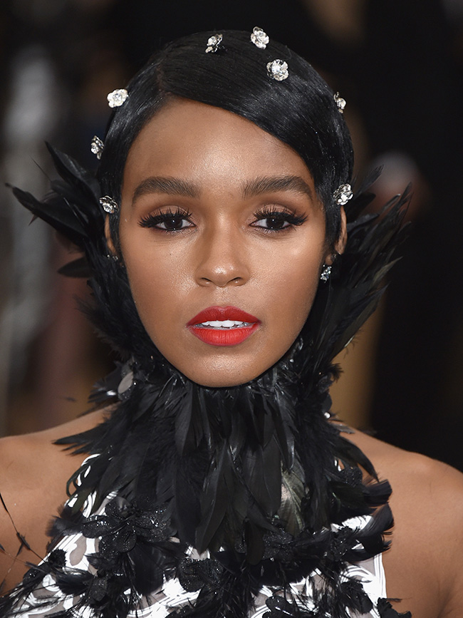Janelle Monáe's Pixie Feather Style