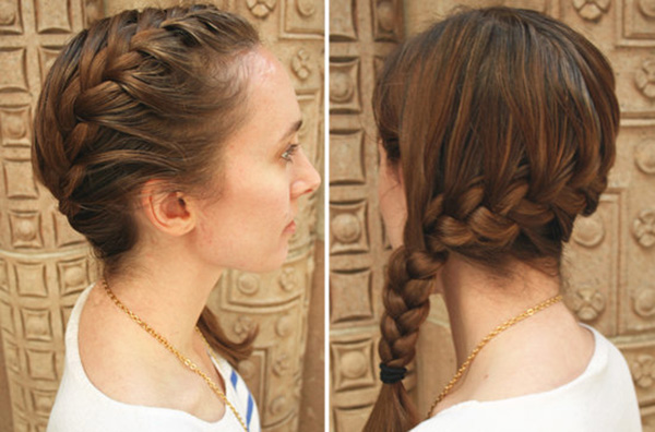 Side French Braid style