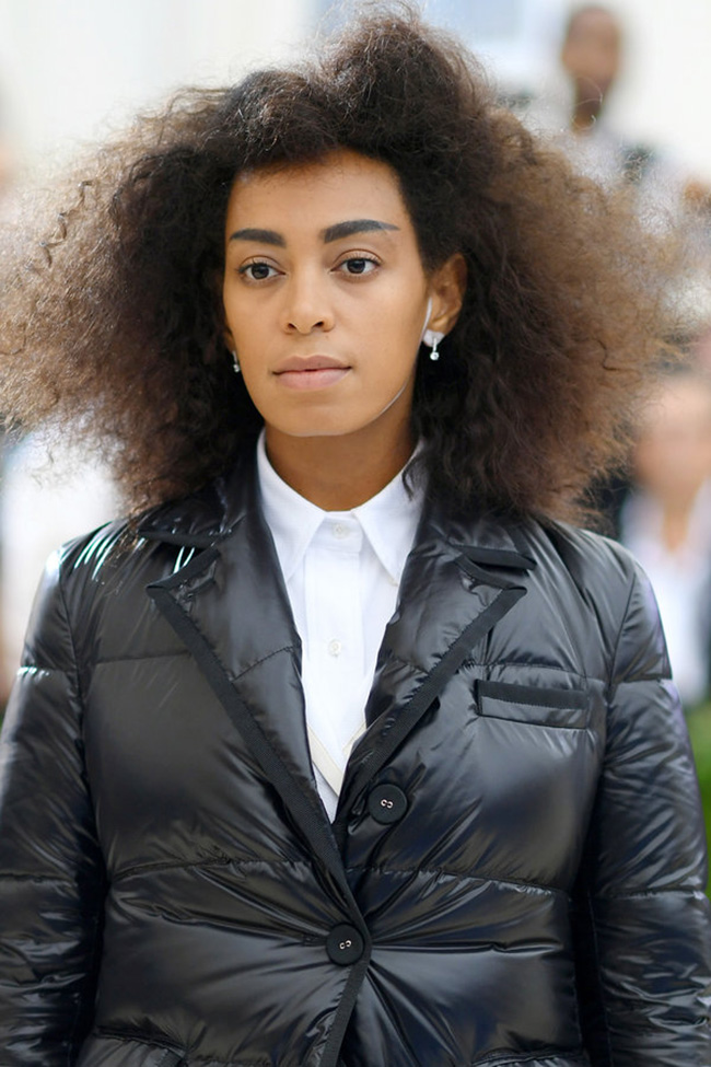 Solange Knowles Chic Natural Afro Curls