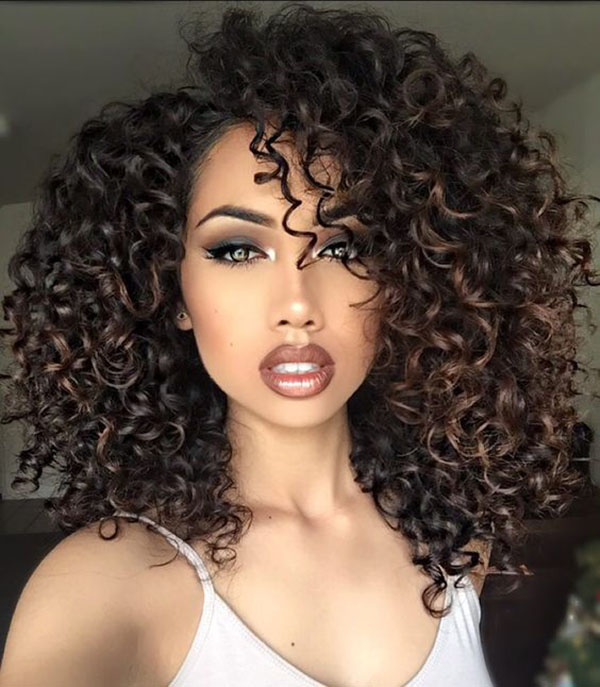 Voluminous Layered Curls